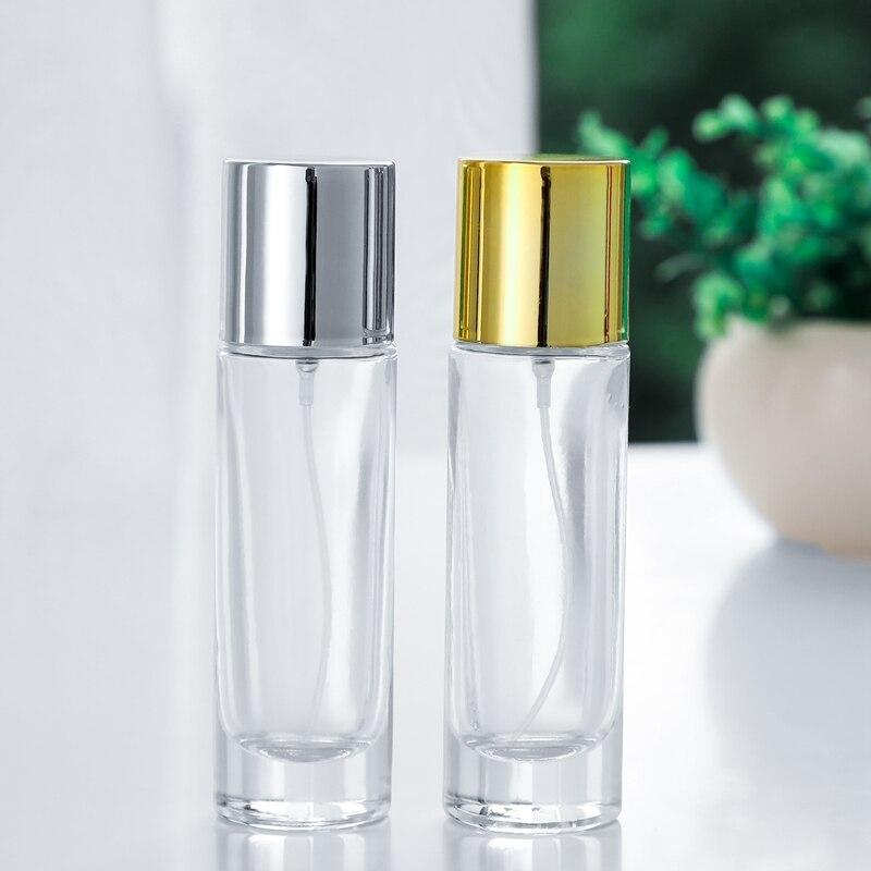 Golden Silver 1pcs100ML Spray Perfume Bottles Glass Empty Bottles Mini Ztomizer Bottles Glass Perfume Bottles