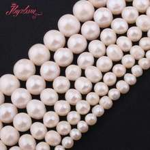 6-7mm 7-8mm,8-9mm Freshwater Pearl White Natural Gem Stone Beads For Bracelet Necklace DIY Jewelry Making 14