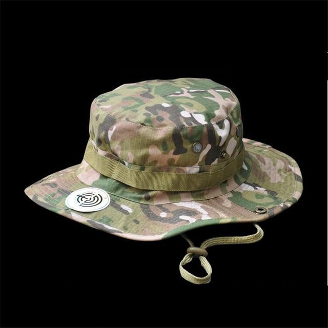 Merek Militer Topi Jungle Camo Boonie Nepal Topi Ember Topi Matahari  Memancing Topi Taktis Airsoft Sniper ee4a0e3fc0