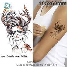 Body Art waterproof temporary tattoos for men and women 3d sexy simple siren design small arm tattoo sticker wholesale RC2276