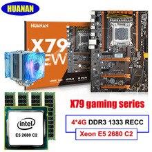 Neue ankunft HUANAN X79 deluxe gaming motherboard Intel Xeon E5 2680 C2 RAM 16G (4*4G) DDR3 RECC unterstützung 64G (4*16G) memorry