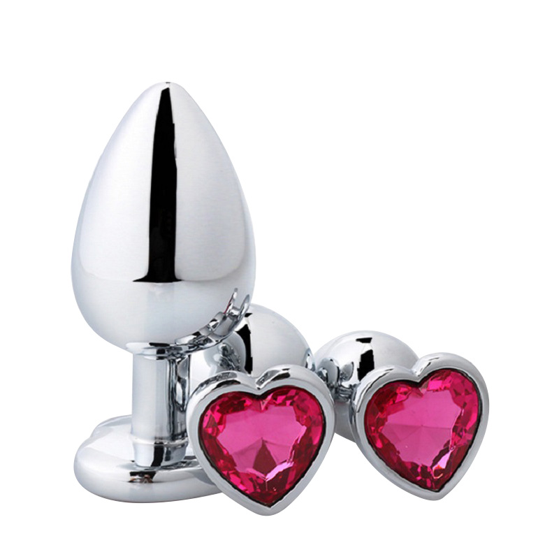 Free shipping52g 2.8*7CM small size silver Crystal Heart shape metal anal plug Jewelry butt plug inset stopper sex toys for menFree shipping52g 2.8*7CM small size silver Crystal Heart shape metal anal plug Jewelry butt plug inset stopper sex toys for men