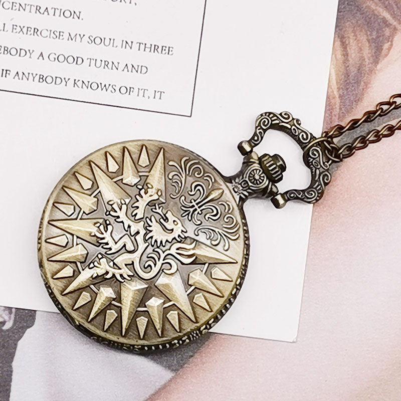 Fob Pocket Watches Antique Bronze Dragon Design Quartz Pocket Watch With Necklace Chain Pandent Clock Free Drop Shipping