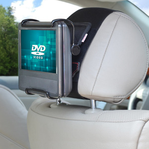 Image 1 - TFY Universal Car Headrest Mount Holder with Angle  Adjustable Holding Clamp for 7   10 Inch Swivel Screen Portable DVD Players,
