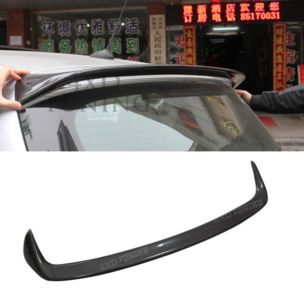 For BMW E87 rear Roof Spoiler AC Style 1 Series E87 Carbon Fiber Rear Spoiler car Rear Bumper Trunk lip Wing styling 2004 - 2011 m4 style e93 carbon fiber rear wing spoiler for bmw e93 convertible 3 series 2005 2011 racing car styling tail trunk lip wing