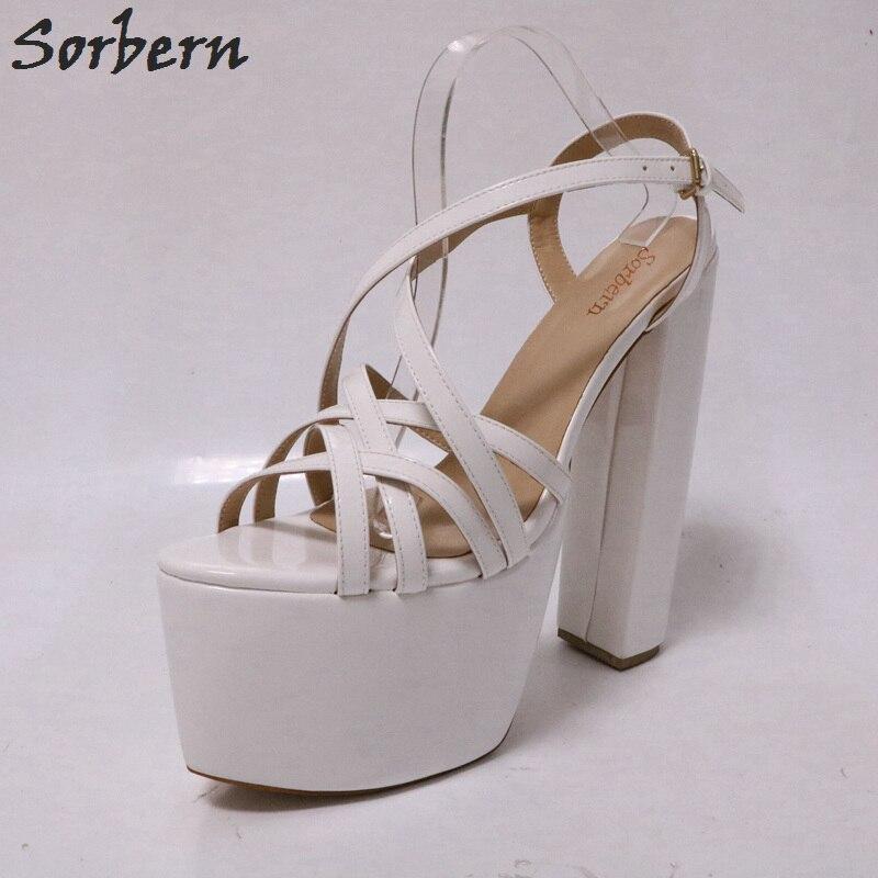ea700886556 Sexy Kim Kardashian Sandal Style PVC Clear Transparent Strappy Buckle High  Heel Sandals Plus Size Custom Stilettos Women ShoesUSD 85.00 pair