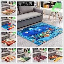 80cm*120cm 2017 New 3D Printing Hallway Carpets, Bedroom Living Room Tea Table Rugs, Kitchen Bathroom Antiskid Mats.