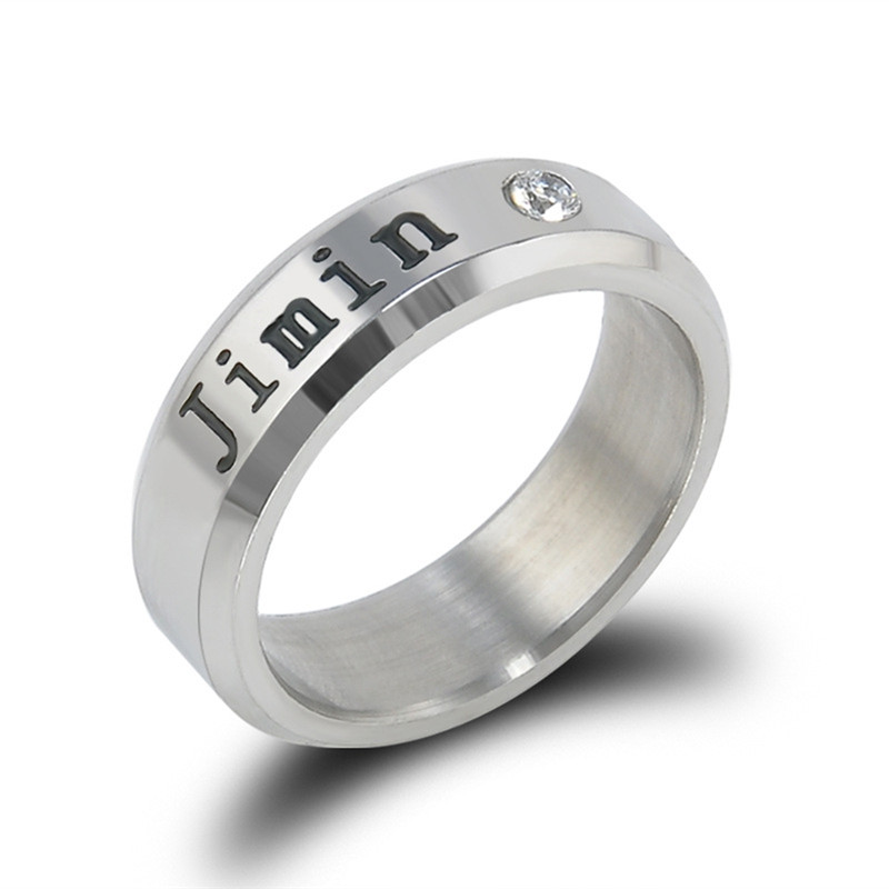 men and women can wear Fashion trend ring Silver white ring