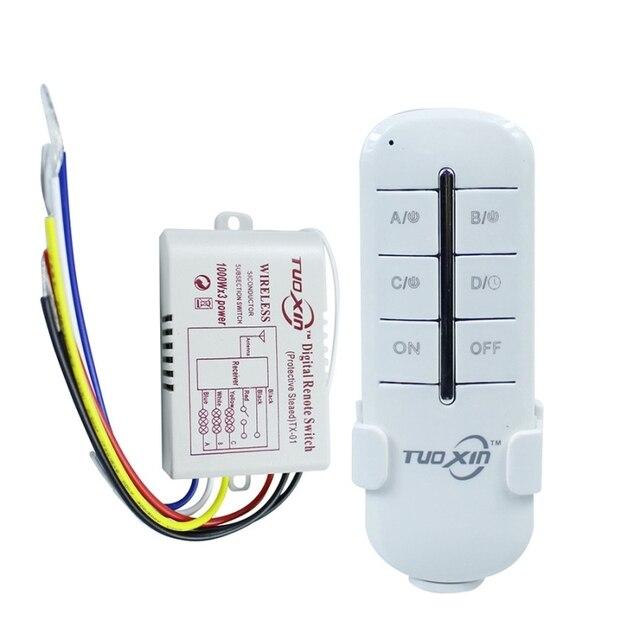 Interruttore telecomando Wireless ON/OFF 220V lampada lampada trasmettitore ricevitore interruttore remoto a parete Wireless digitale per lampada a LED