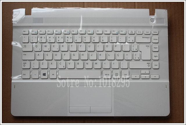 Nuevo para samsung np270e4e np300e4e np270e4v np275e4v br brasil teclado del ordenador portátil con el caso blanco touchpad ba75-04583p