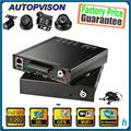 Full HD 1080 P Veículo 4CH HDD carro DVR 3G WIFI GPS Pacote HDVR8045 4 HD cabo de extensão + 4 câmeras Suporte automático registro