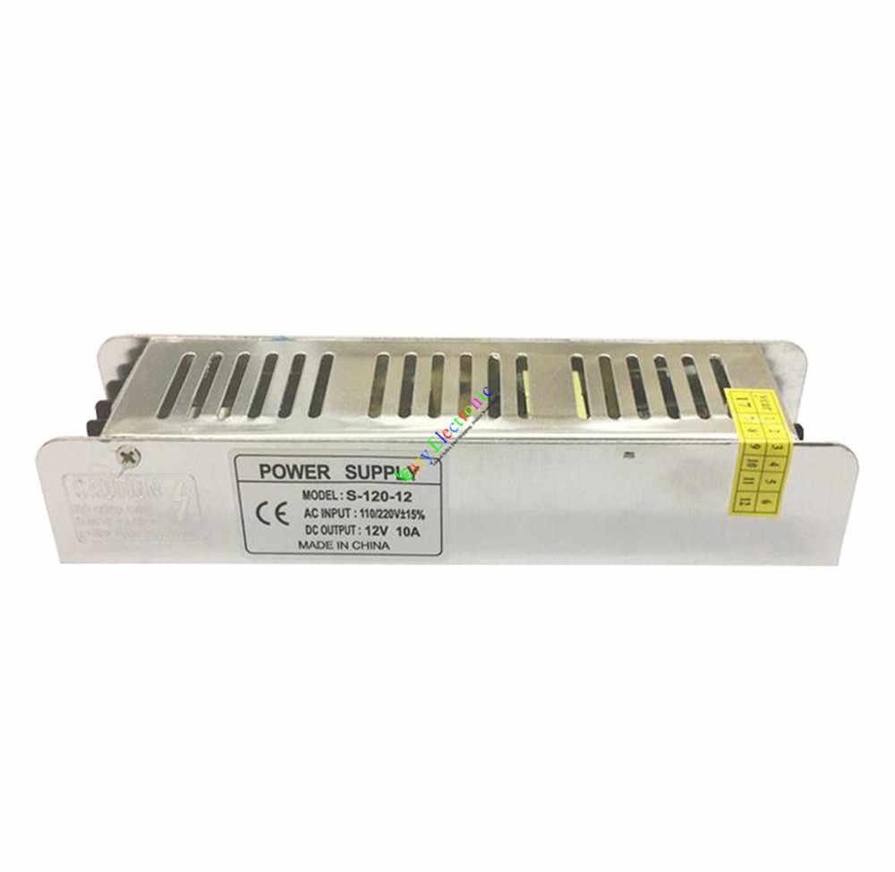 Atacado e varejo 5 pc 12 V 10A 120 W AC/DC motorista Interruptor de alimentação do Transformador adaptador de alimentação LEVOU luz frete grátis