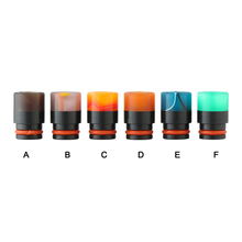 Sailing electronic cigarette 510 drip tips acrylic mouthpiece mix colors POM core for 510 tank RDA atomizer