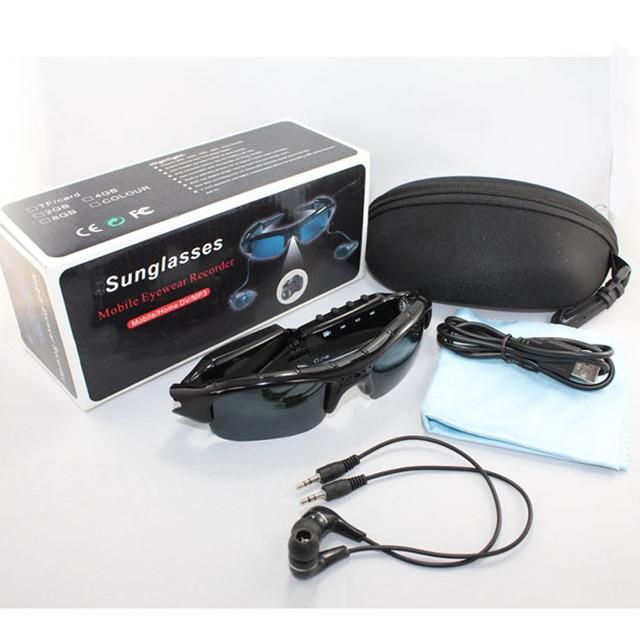 HD video camera  mini DV 1280*720 MP3 stereo bluetooth listening glasses TF card Record polarized glasses  Phone hands-free