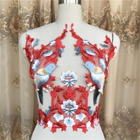 Magpies Exquisite Luxury Red Dress Shirt DIY Accessories Accessories Applique Embroidery Motif