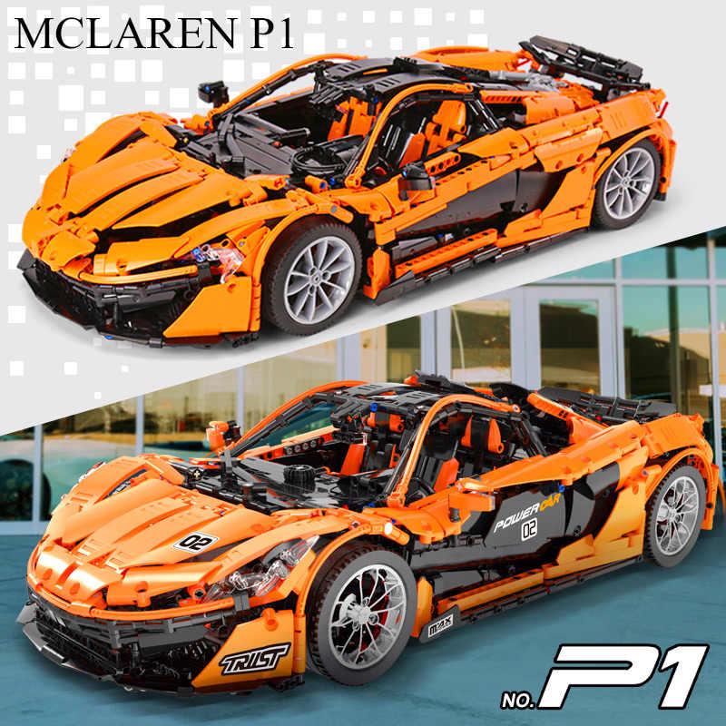 Lepining 20087 RC รถ Technic ใช้งานร่วมกับ MOC-16915 McLaren P1 มอเตอร์รถอิฐบล็อกเด็กของเล่นคริสต์มาส