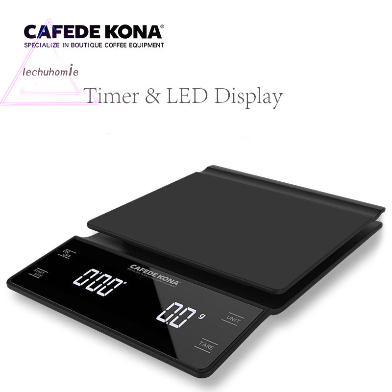 household electric scale Portable 3kg 0 1g Drip Coffee Scale With Timer Electronic Digital Kitchen Scale