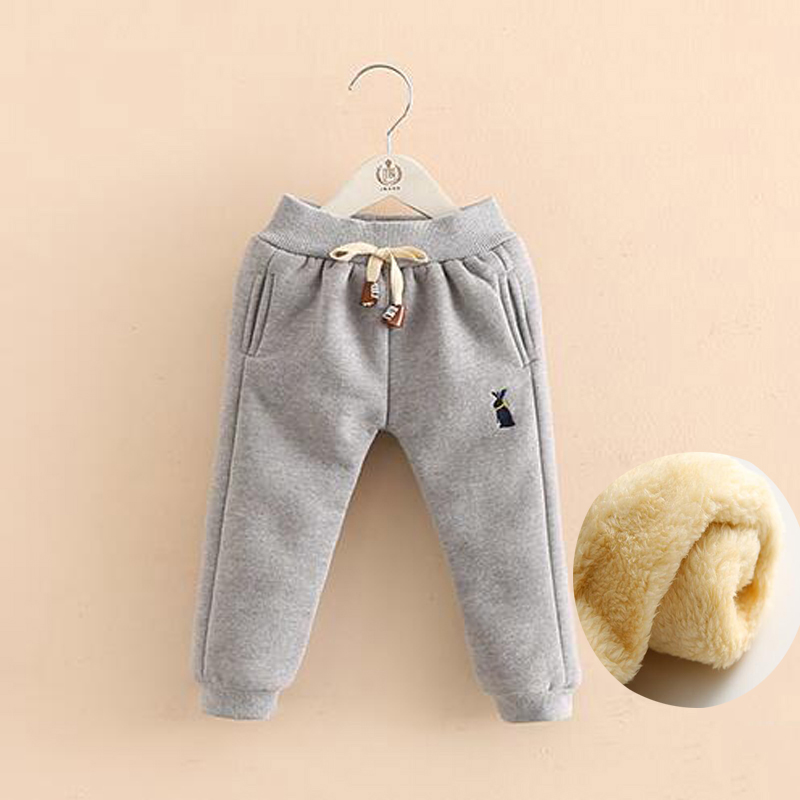 BibiCola Baby Girls Boys Fleece Pants Kids Winter Warm Plus Thick Leggings Toddler Trousers
