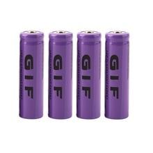 Em Estoque! 4 PCS Roxo 14500 3.7 V 2300 MAH Bateria Recarregável Li-ion