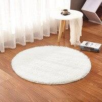 Hochwertigen Flauschigen Runden Teppich Teppiche für Wohnzimmer Faux Pelz teppich Kinderzimmer Lange Plüsch teppiche für schlafzimmer Shaggy Bereich Teppich weiß