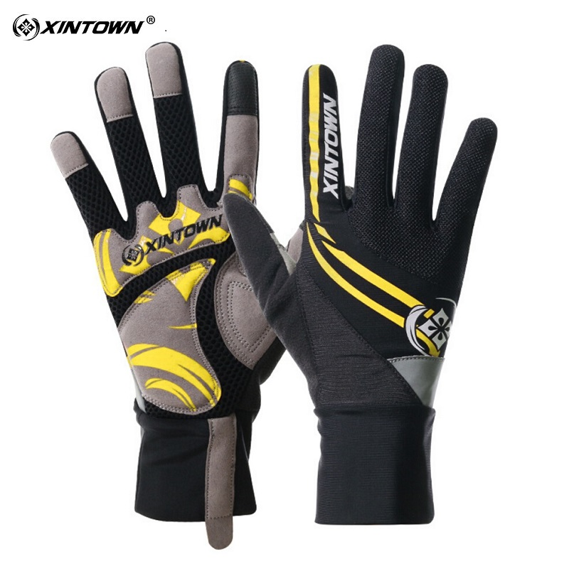 XINTOWN Cycling Gloves Touch Screen Bike Sport Shockproof Fishing Gloves For Men Women MTB Road Bicycle Full Finger Phone Glove