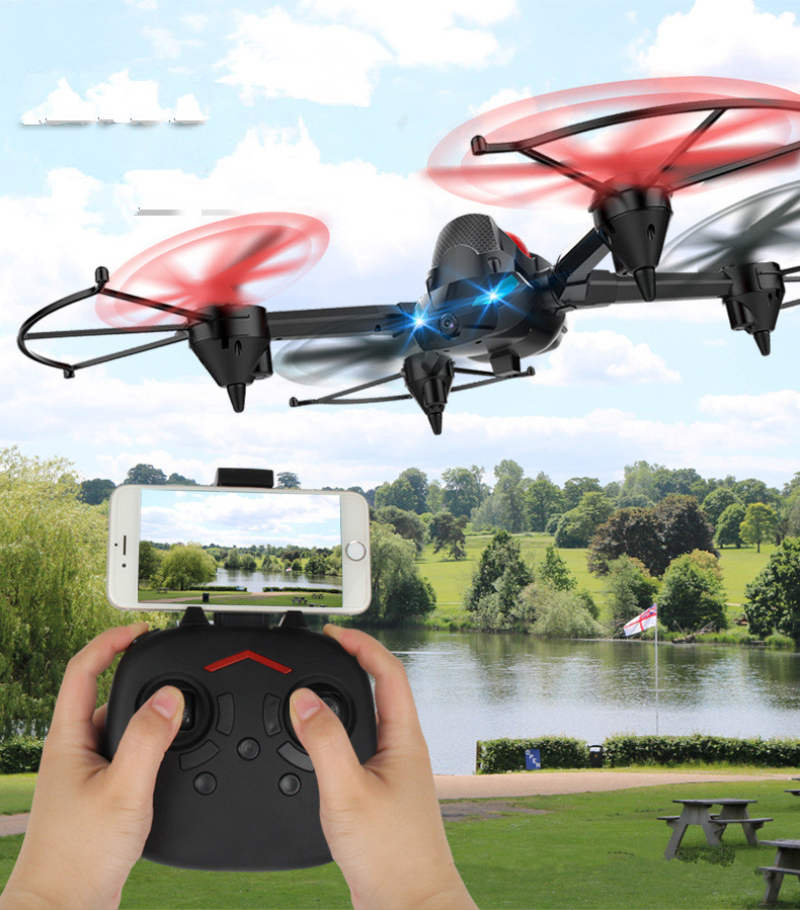 2018 New <font><b>H3</b></font> Air-ground 3 in 1 Headless Mode 4CH <font><b>HD</b></font> WIFI DIY Deformation RC <font><b>Drone</b></font> Video Camera Tank Jumping Car QuadcopterModel image