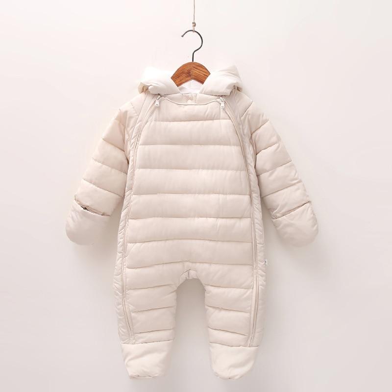 Image 3 - 2019 Autumn Winter Baby Romper Baby Boy Girl Winter Warm Kids Jumpsuit Clothes Fleece Warm Baby Infant Clothes Rompers 0 12M-in Rompers from Mother & Kids
