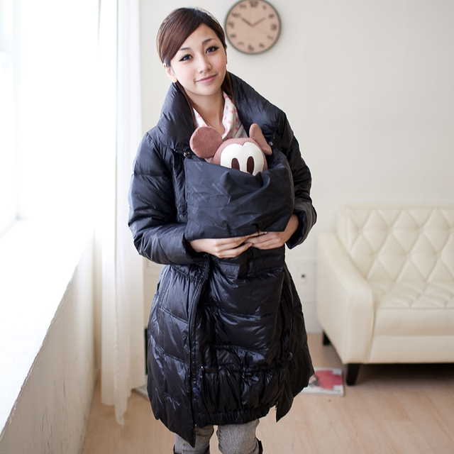 9ef5eb1d202b0 MamaLove Winter Warm Plus Size Fur Windproof Maternity Coat Jacket for  Pregnant Women Maternity Down coat