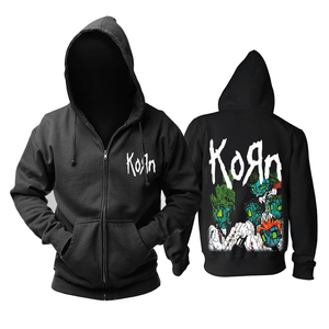 Image 4 - Bloodhoof Korn Nu Metal  heavy metal Mens black hoodie Asian Size