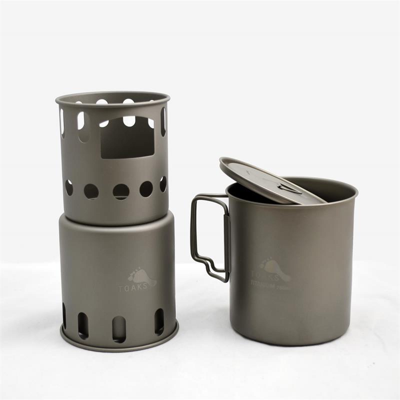 где купить TOAKS Titanium Backpacking Wood Burning Stove (Small) Outdoor Titanium по лучшей цене