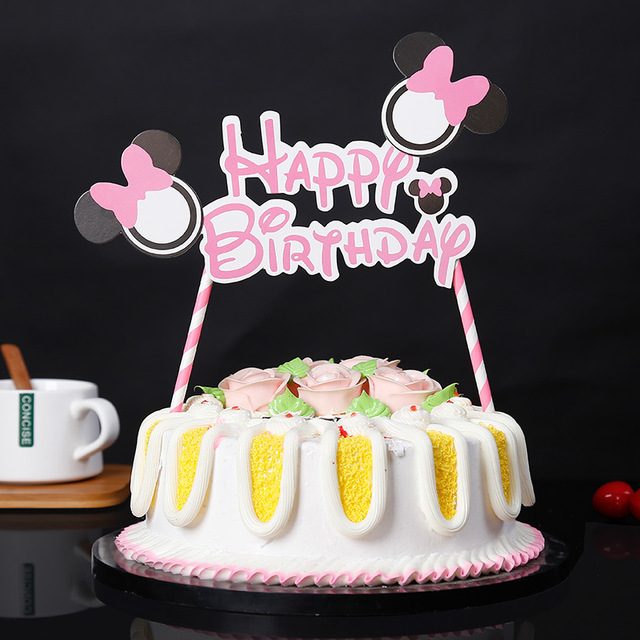 Aliexpress Buy Mickey Mouse Happy Birthday Letter Garland Cake
