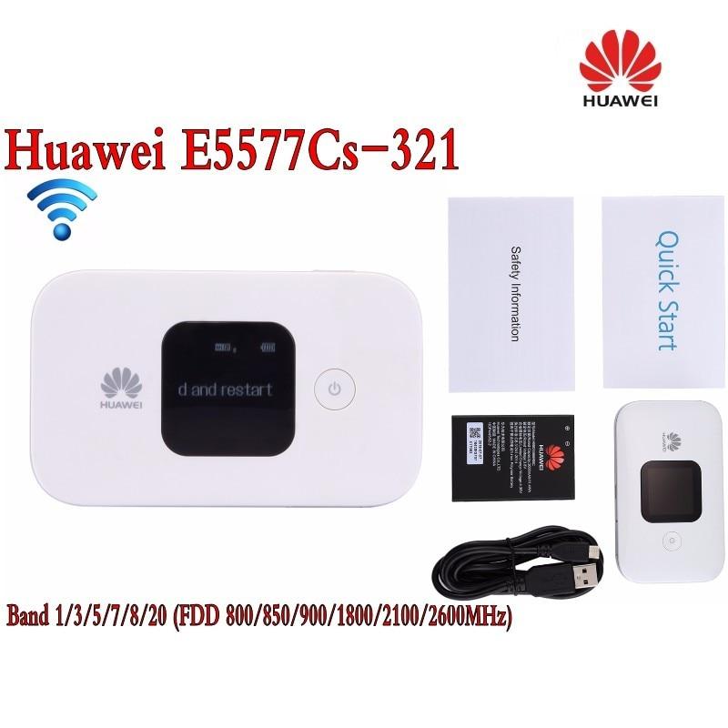 Entriegelte Huawei e5577 4g dongle lte wifi router E5577Cs-321 3G 4G WiFi HotspotWireless Router plus 35dbi 4g TS9 mimo antenne