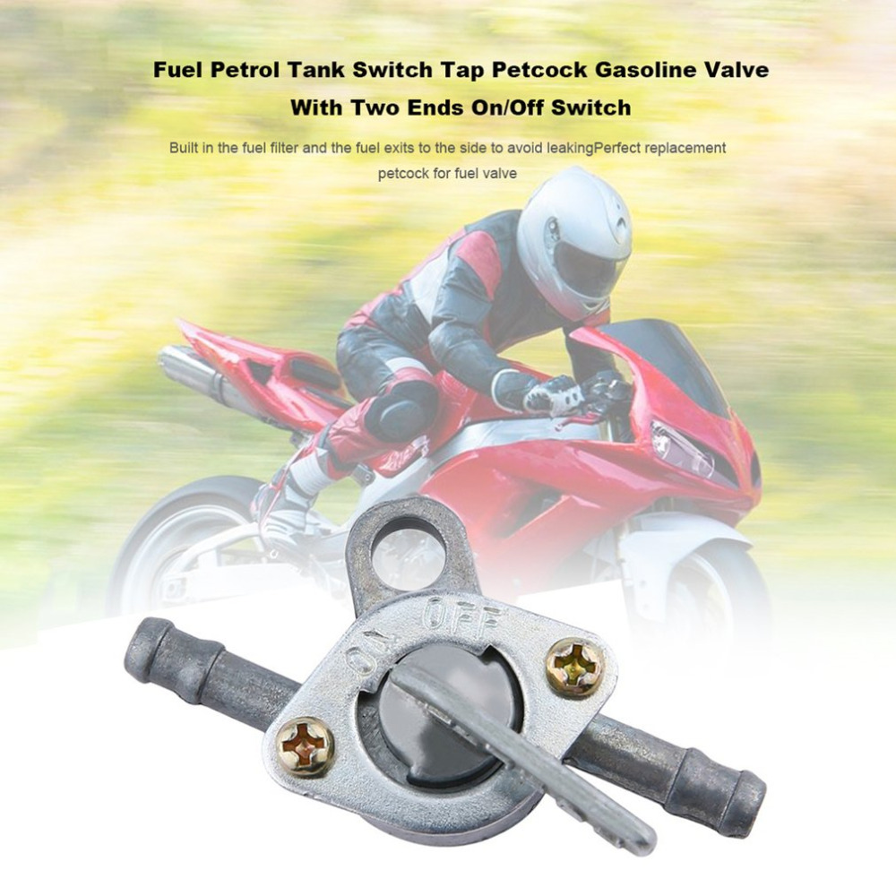 Fuel Petrol Tank Switch Tap Petcock Gasoline Valve With Two Ends On/Off Switch For Cross-country Motorcycle ATV Moped