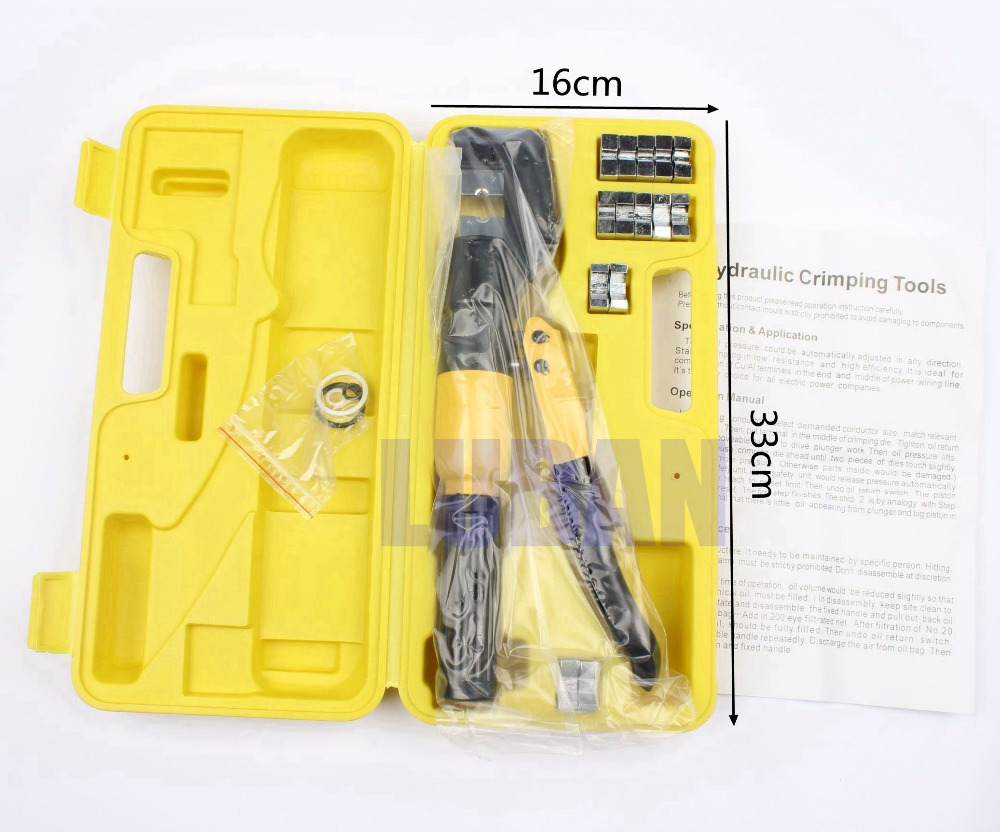 Cable lug Hydraulic Crimping Tool Hydraulic Crimping Plier Hydraulic Compression Tool YQK-70 Range 4-70MM2 Pressure 5-6T mini small ferrules tool crimper plier for crimping cable end sleeves from 0 25 2 5mm2