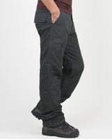 New Brand Winter Double Layer Men S Cargo Pants Warm Baggy Pants Cotton Trousers For Men