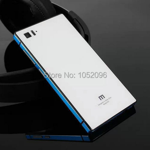 Case Xiaomi 3 Mi3 M3 Luxury series Tempered Glass Hard Back Cover Cases Mirror Style 14 Colors Xiaomi3 - HM Technology Co.,Ltd store