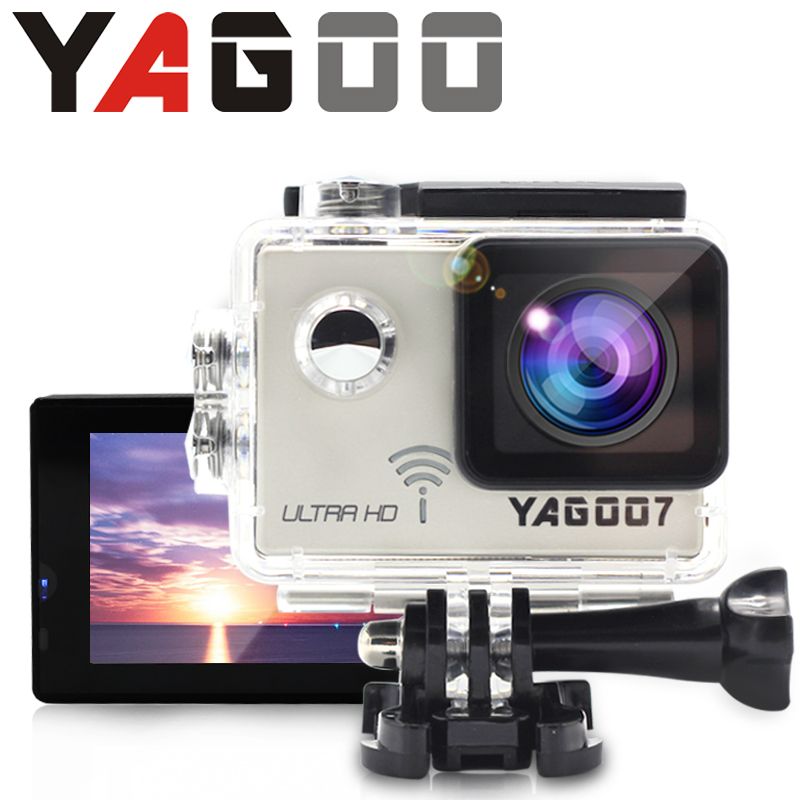 diving camera Action Camera 4K Yagoo7 WiFi 24fps Sport extreme Diving Helmet mini Cam 30M go Waterproof  pro camera waterproof 2017 arrival original eken action camera h9 h9r 4k sport camera with remote hd wifi 1080p 30fps go waterproof pro actoin cam