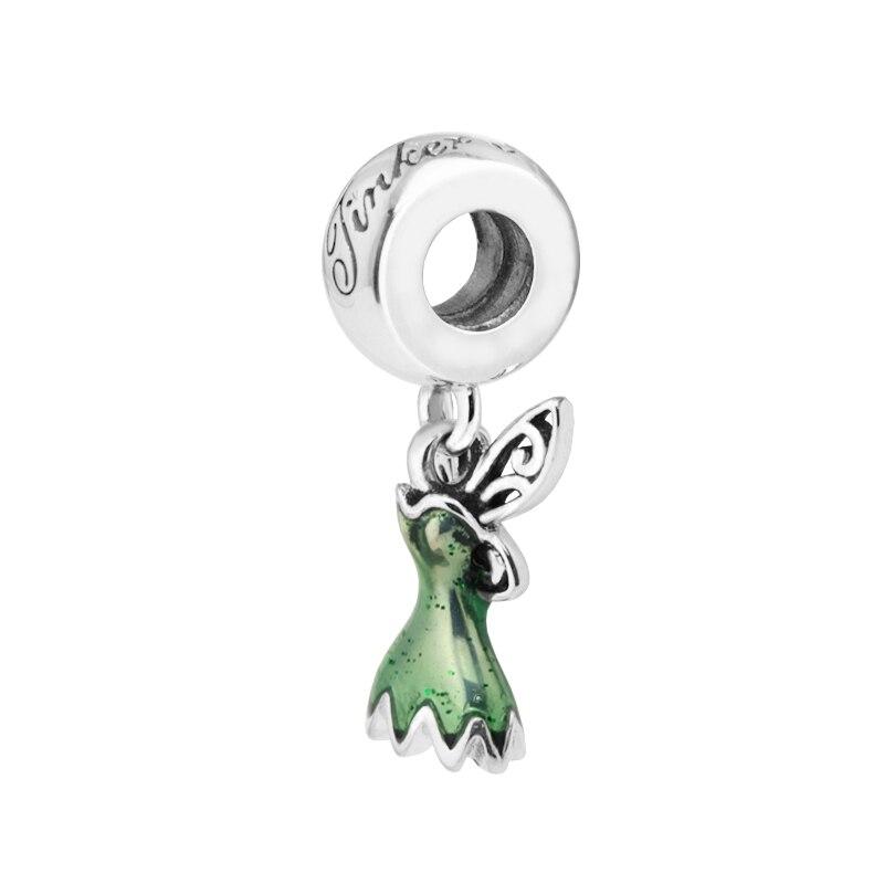 Sterling Silver DIY Jewelry Tinker Bell/'s Dress Dangle Charm Pendant
