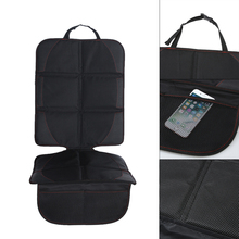 Cubierta de Asiento de Coche negro con Bolsillo De Malla Transpirable Bolsa de asiento trasero del coche mat car-styling