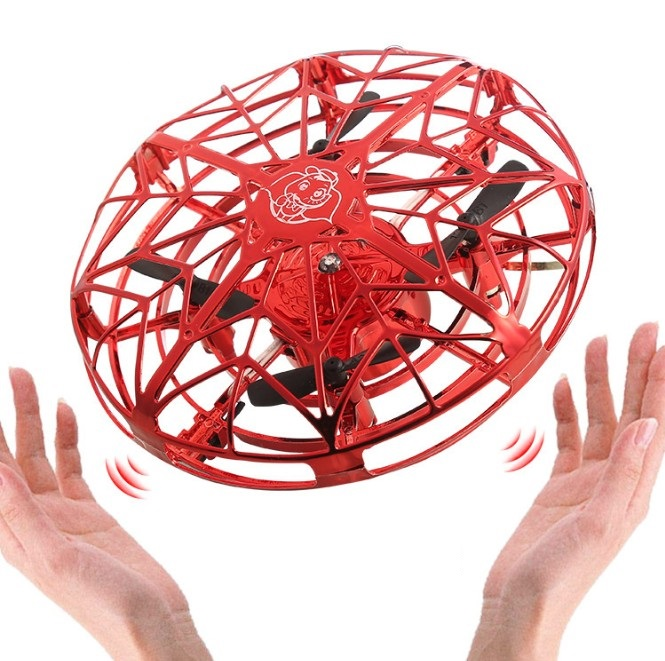 Anti-collision Flying UFO Helicopter Magic Hand UFO Flying Ball Aircraft Sensing Mini RC Drone UFO Induction Aircraft Helicopte(China)