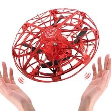 Antykolizyjna latająca UFO helikopter magiczna ręka UFO latająca piłka samolot wyczuwający Mini RC Drone UFO indukcja samolot helikopter tanie tanio OLOEY Gumy Z tworzywa sztucznego 30days 16*16*8 Silnik szczotki Kabel usb Helicopter Certyfikat 3 7V 30mins Electric Mini Helicopter