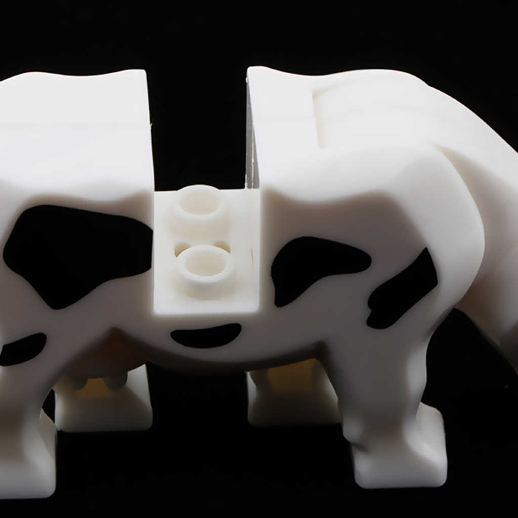 Plastic Animal Action Figure Model Building Blocks Kids Baby Developmental Educational Toy Party Bag Fillers – Milk Cow