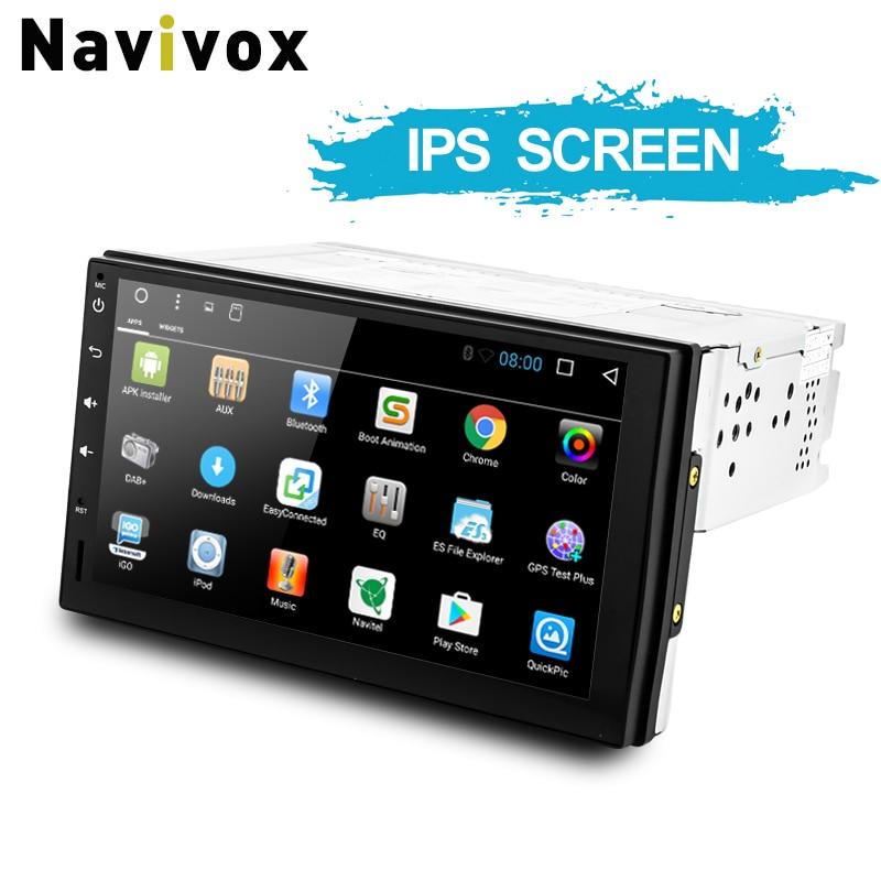 Navivox Android7.1 / 8.1 Universāls GPS navigācijas radio stereo audio atskaņotājs nissan, Hyundai RDS / SWC / BT / Wifi (nav DVD)
