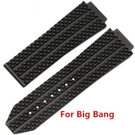 9812f9a377f Relógio acessórios de Silicone Strap Para Homens Pulseiras de Relógio  Hublot para BIG BANG 25