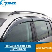 цена на Car window rain protector for Audi A3 2010-2013  door visor  for Audi A3 2010 2012 2012 2013 HATCHBACK  car accessories  SUNZ