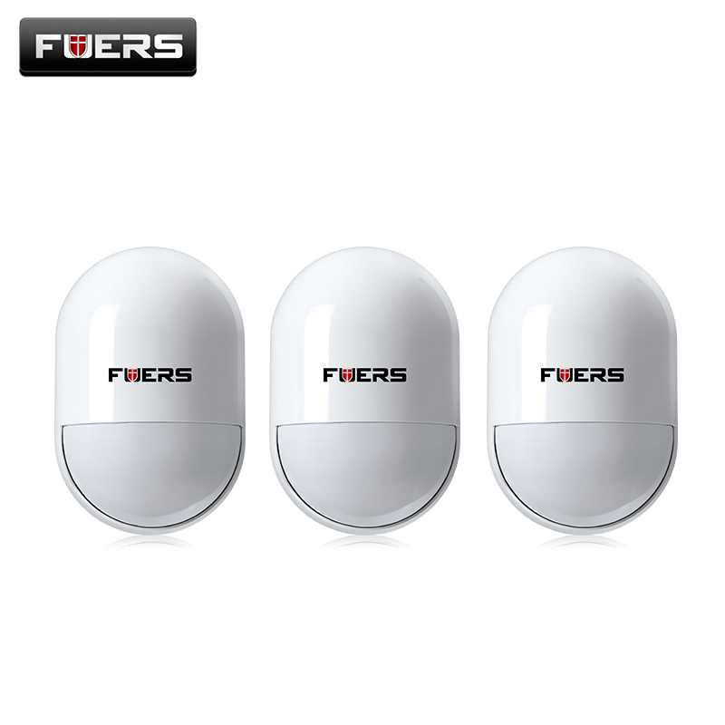 3pcs Fuers Wireless Pir Detector Infrared Detector For Home Security Gsm Alarm Systems 433Mhz Pir Motion Sensor Indoor fuers wifi gsm sms home alarm system security alarm new wireless pet friendly pir motion detector waterproof strobe siren