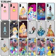 YIMAOC Alice in Wonderland princess Soft Silicone Phone Case