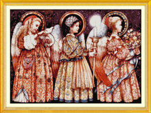 3 Christmas Eve angels Printed Canvas DMC Counted Chinese Cross Stitch Kits printed Cross-stitch set Embroidery Needlework