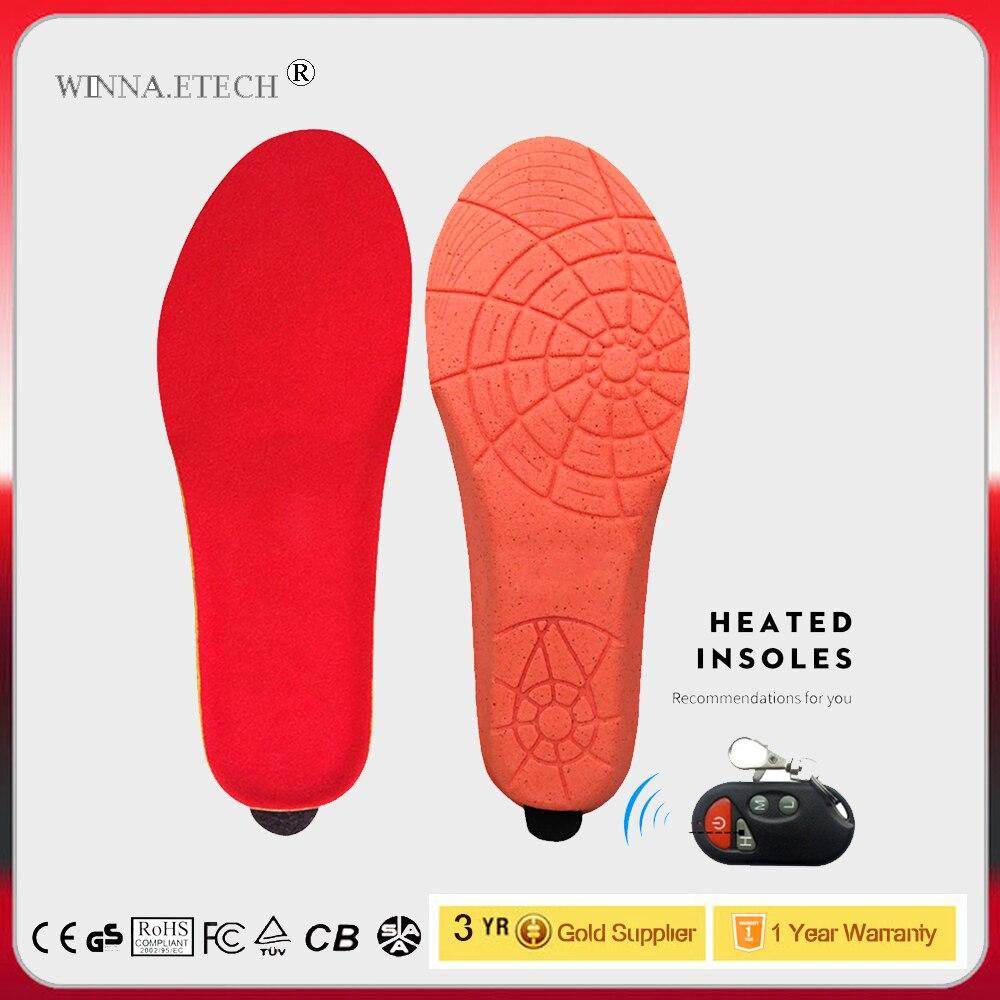 Nuovo Arrivo Riscaldamento Solette con Telecomando Senza Fili di Controllo USB Elettrici Riscaldati Solette Inverno Sci Termica Pads Scarpe Formato 35- 46 #