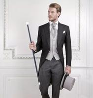 Tùy chỉnh Brand New mát Groom Tuxedo Men Wedding Dress Tân Lang Phù Hợp Với Người Đàn Ông Tốt Nhất Phù Hợp Với nuốt đuôi Lông (Áo + quần + áo)